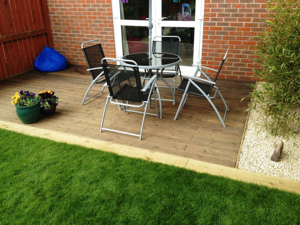 Decking turfing project mdc landscapes ltd for Garden decking projects