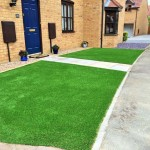 Artificial turf & sandstone path 3.