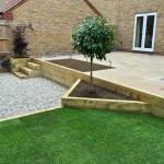3 tiered garden design / construction 2.